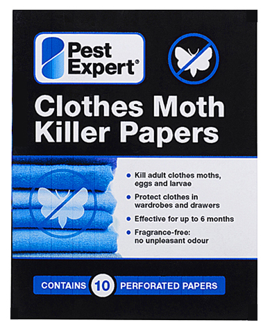 Pest Expert Clothes Moth Killer Papers. Moth Killer Strips
